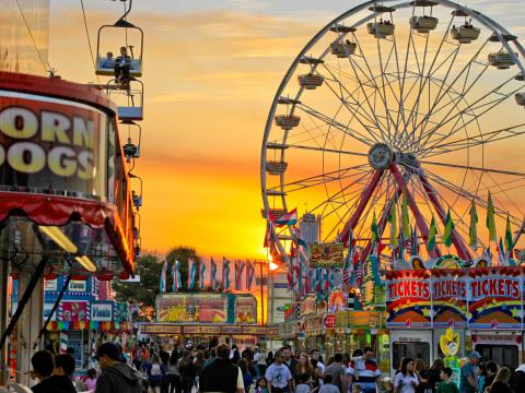 La South Florida Fair en West Palm Beach, Florida